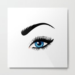 Fashion blue eye Metal Print