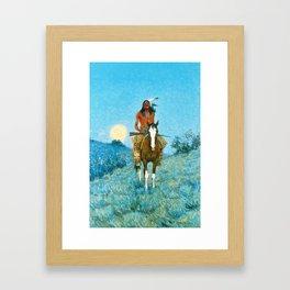 Frederic Remington - The Outlier, 1909 Framed Art Print