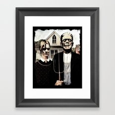 Just act normal,.... Framed Art Print