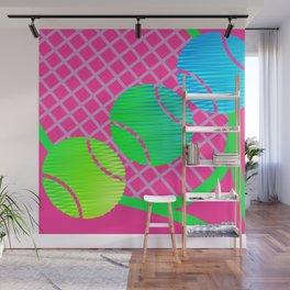 Scribblez on pink -- far out! Wall Mural