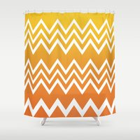 tequila Shower Curtains featuring Tequila Sunrise by Color and Form