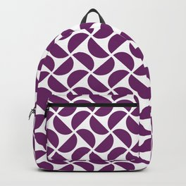 HALF-CIRCLES, PURPLE Backpack