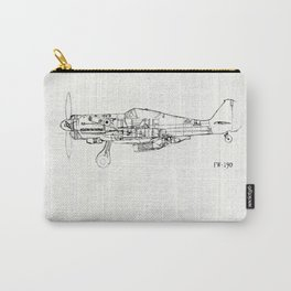 FW - 190 ( B & W) Carry-All Pouch