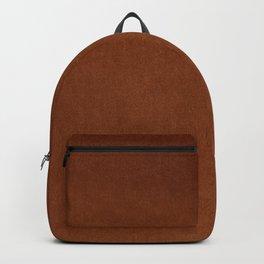 Rust Orange Velvet Textu Backpack