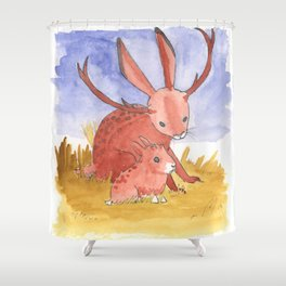 Baby Jackalope Shower Curtain