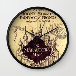Map Harry poter castle, The Marauders Map Wall Clock