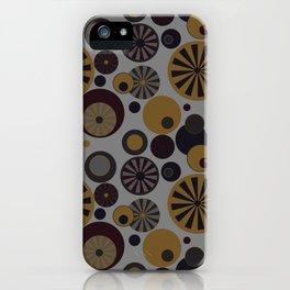 Circle Frenzy - Grey iPhone Case