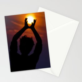 SuperMoon silhouette Stationery Cards