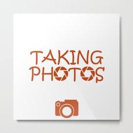 Photo Camera Photographer Gift Hobby Photography Metal Print