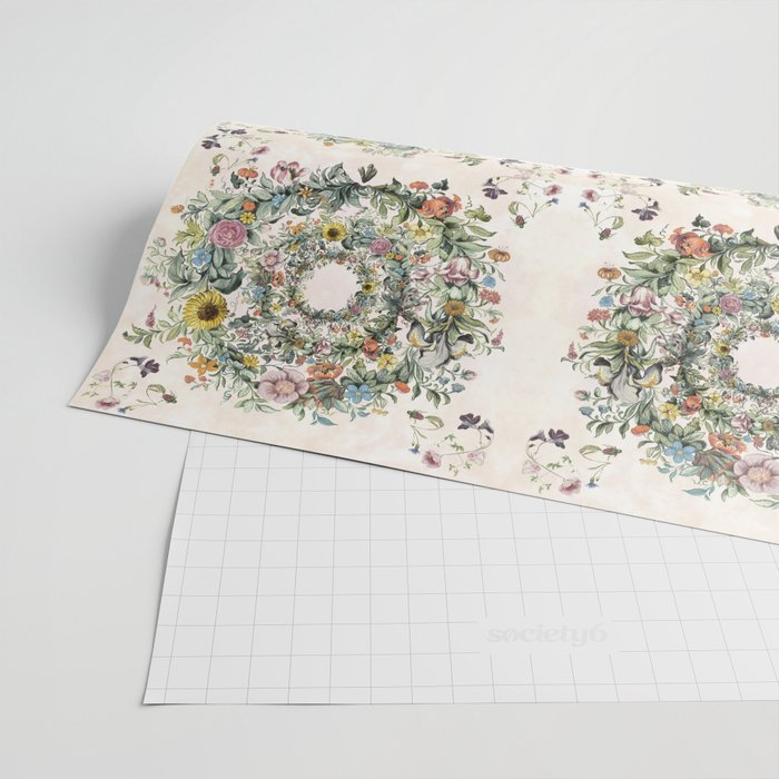 Circle of life- floral Wrapping Paper