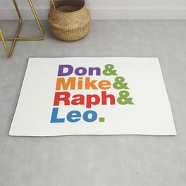 Don & Mike & Raph & Leo. Rug