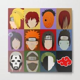 Akatsuki Minimalistic Face Compilation  Metal Print