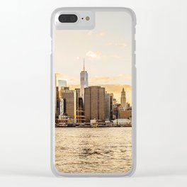 New York skyline at sunset Clear iPhone Case