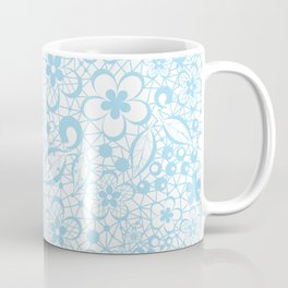 Blue , fishnet , lace Coffee Mug