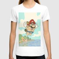super mario T-shirts featuring Super Mario! by Ismael Álvarez