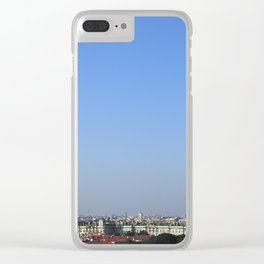 Clear sky cityscape. Admiralty building and winter palace. Clear iPhone Case