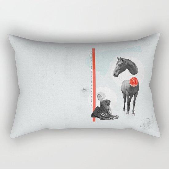 take my horse Rectangular Pillow