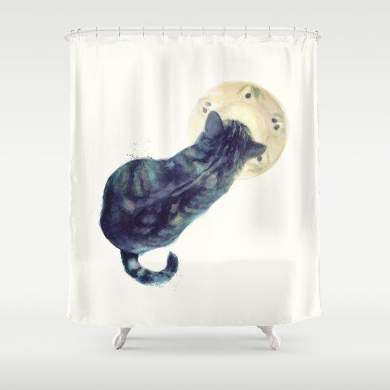 Kitten and Saucer Shower Curtain