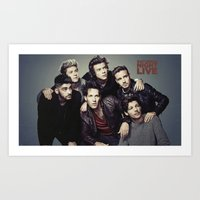 snl Art Prints featuring One Direction - SNL w/ Paul Rudd by Amara V