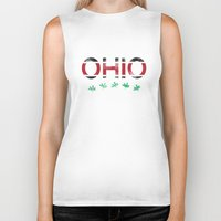 ohio state Biker Tanks featuring Ohio by Amanda Pavlich