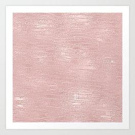 Metallic Rose Gold Blush Art Print