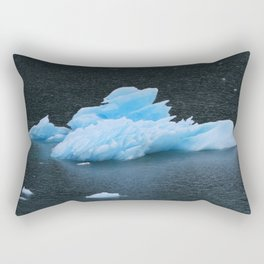 Blue Icebergs Of Alaska Glacier Rectangular Pillow
