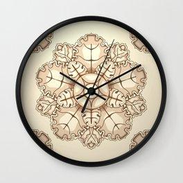 Beige elegant ornament fretwork Baroque style Wall Clock