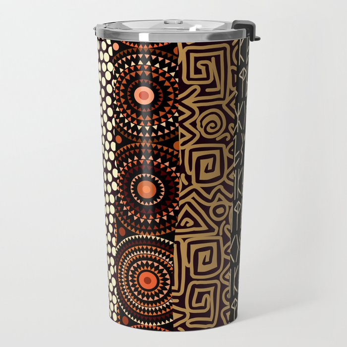 Geometric African Pattern Travel Mug