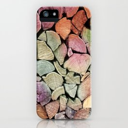 colorful wood iPhone Case