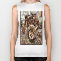 truck Biker Tanks featuring mud truck by Vector Art