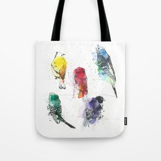 Palette Birds Tote Bag