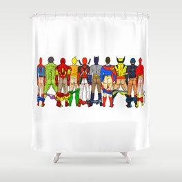 Superhero Butts Shower Curtain