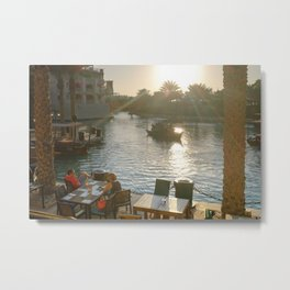 Lazy winter afternoons in Dubai Metal Print