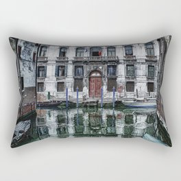 Venice Canal Rectangular Pillow