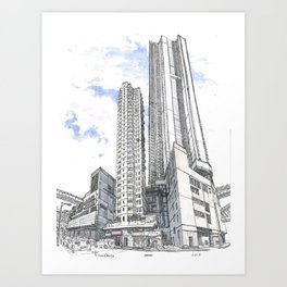 Hong Kong continuity of towers Art Print