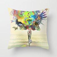 archan nair Throw Pillows featuring Aurantiaca by Archan Nair