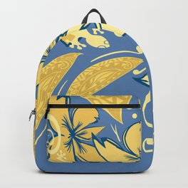 Samoan Orchid Sunset Polynesian Floral Backpack