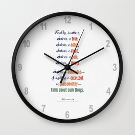 Think About Such Things . . . Wall Clock