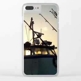 Fishing At Dawn Clear iPhone Case