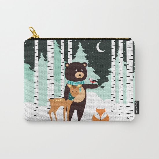 Friends in winter Carry-All Pouch