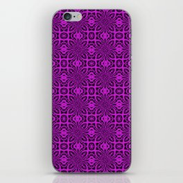 Dazzling Violet Geometric Floral Abstract iPhone Skin