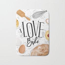 I love bake Bath Mat