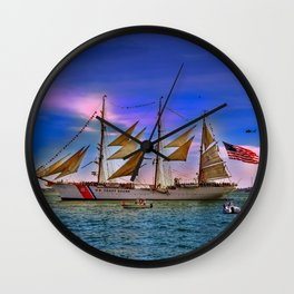 US Coast Guard Eagle. Wall Clock