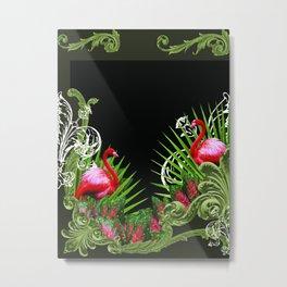 Baroque Flamingos Metal Print