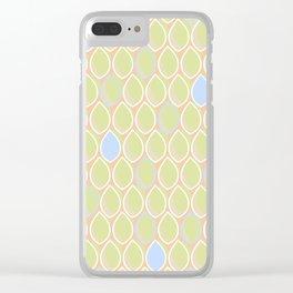 Tear Drops Blue Clear iPhone Case