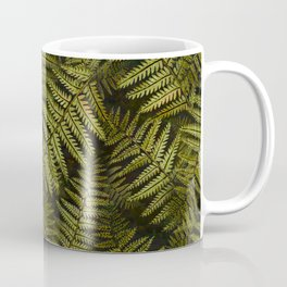 Among the ferns in the forest (military green) Coffee Mug