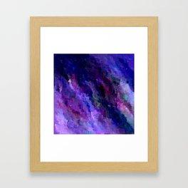Night Sky Glitch Framed Art Print