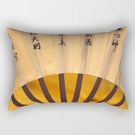Japanese Umbrella yellow Rectangular Pillow