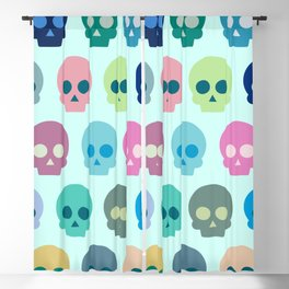 Colorful Skull Cute Pattern Blackout Curtain