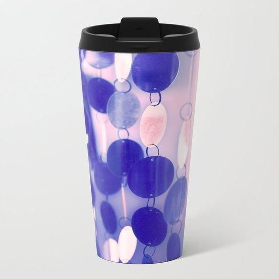 GLAM CIRCLES #Soft Pink/Blue #1 Metal Travel Mug